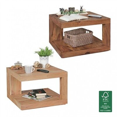 Coffee table Solid wood side table living room table 58 x 58 x 40 cm furniture