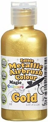 Magic Colours Metallic Edible Airbrush Gold Brand NEW