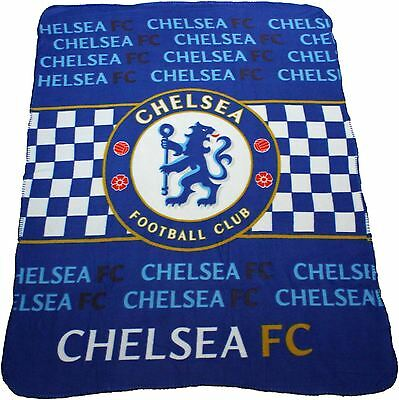 Chelsea FC Multi Stripe Fleece Blanket By BestTrend