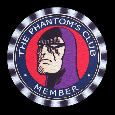 4 x THE PHANTOM, CLUB MEMBER, ' from an old badge' DRINK COASTERS -