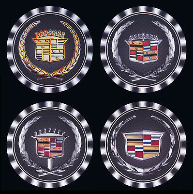 4  x   CADILLAC DIFFERENT  LOGOS BADGES MOTORCAR MOTOR CAR DRINK COASTERS