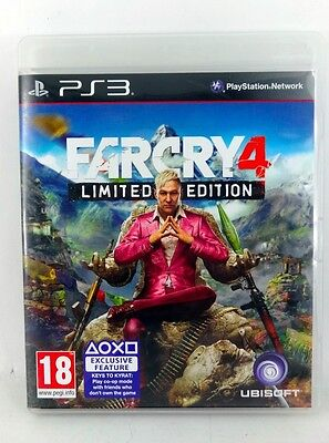 Playstation PS3 game * FAR CRY 4 * LIMITED EDITION Complete