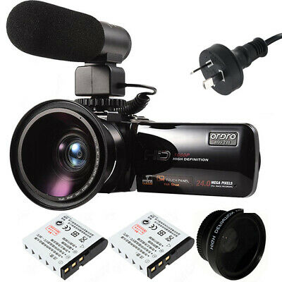 """HDV-Z20 HD 1080P 3.0"""" LCD Digital Video Camcorder Battery Microphone Wide Lense"""