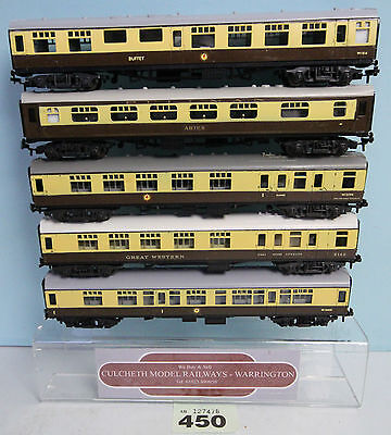 Trix / Liliput 'oo' Gauge Rake Of 5 Brown & Cream Pullman Coaches