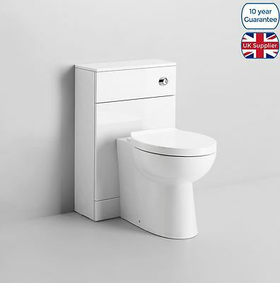 Ruberry Bathroom Toilet Cistern And Soft Close Seat And Back To Wall Unit
