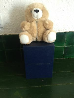 Goldsmiths Collectors Teddy Bear 1995, jewelry, ring holder, boxed