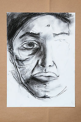 Penny Drawings Sale - #24 - Charcoal Drawing of a theatrical Artist-  Original