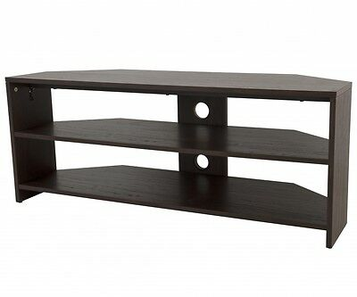 """Dark Wood Effect TV Stand with Shelves For TVs up to 55"""""""