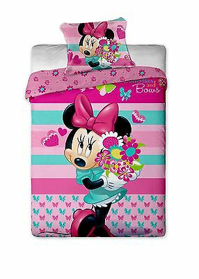 Minnie Mouse Flower Single Duvet Cover By BestTrend