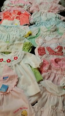 25 Pieces ~Vintage Lot Of Infant Girl Clothing 3-6 Months