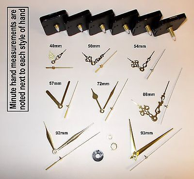 DIY Quartz Clock Movement / Mechanism + Gold Hands & Parts. Repair / Wall Clock