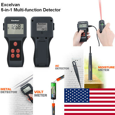 5in1 Detector AC Live Wire Cable Distance Meter Moisture Voltmeter Laser Pointer