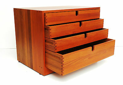 Kommode Schubladenschrank Magazinschrank chest of drawers Teak danish design rar