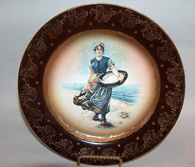 p7676: Antique Royal Vienna Signed Portrait Cabinet Plate