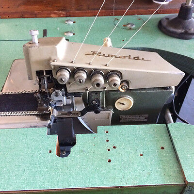 RIMOLDI 329 2-Needle 5-Thread Safety Stitch / Serger Industrial Sewing Machine
