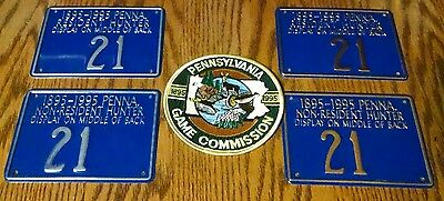 Make Offer 1995 Pennsylvania PA PGC Metal Hunting License Res & Non Resident
