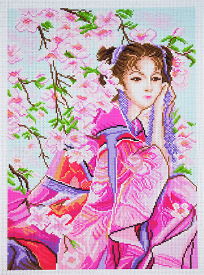 Collection D'Art - Printed Aida Fabric - Pink Dreams - PA1153