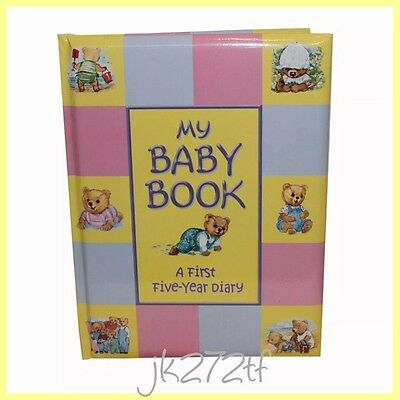 My Baby Book First Five Year Diary Padded Hardback Book Keepsake Gift Boy Girl