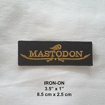 Mastodon Embroidered Iron-on Emblem Badge Rock Band Patch Applique