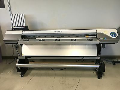 "Roland VersaArt RE-640 64"" EcoSol InkJet Wide Format Print Only Printer 1 Owner"
