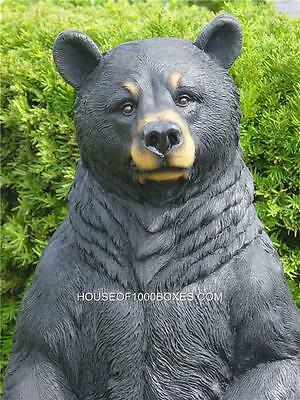 """Black Bear Statue Indoor Outdoor Log Cabin Lodge Decor 31""""tall House Home"""