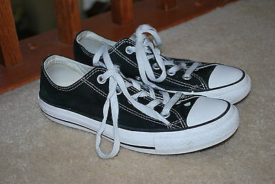 Converse All Star Black Low Top Sneakers Shoes Mens 6 Womens 4 Youth Kids