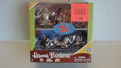 "Rare ~ New Hanna Barbera Tom And Jerry 2"" Figures Collectors 6 Pack Warner Bros"