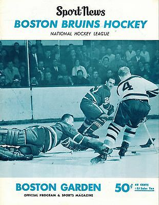 March 19, 1967 Canadiens Old Timers vs Bruins Old Timers Program