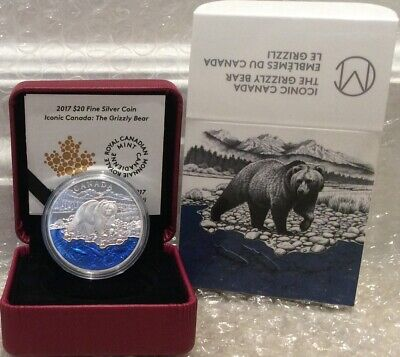 2017 Masters Club Coin Grizzly Bear $20 1OZ Pure Silver Proof Coin Canada