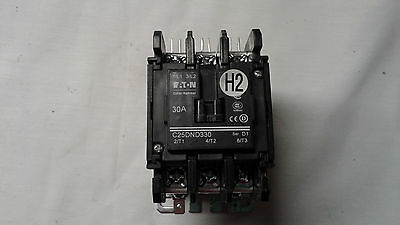 CUTLER HAMMER C25DND330 30A Definite purpose contactor from working HVAC system