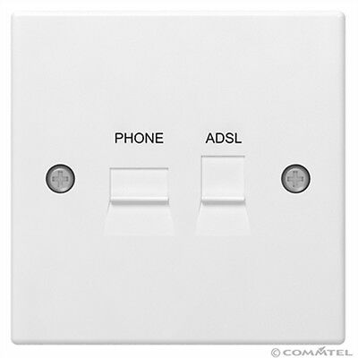 Adsl 2  Broadband Faceplate Filter Splitter For Bt Type Master Socket+Back  Box