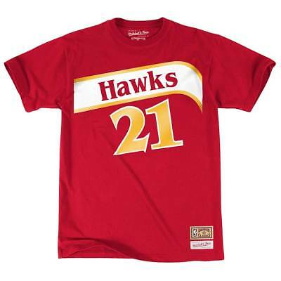 Mitchell & Ness Dominique Wilkins #21 Atlanta Hawks Name & Number NBA Tee Rot