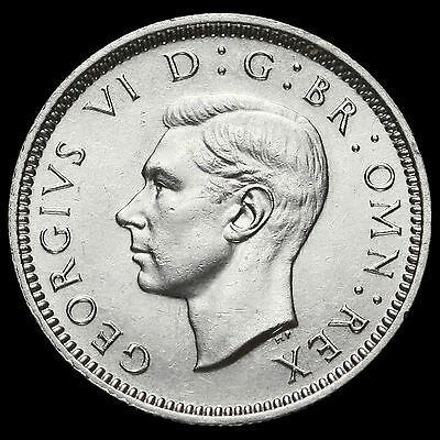 1940 George VI Silver Sixpence, G/EF  #2