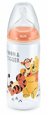 NUK First Choice Winnie the Pooh 300ml Bottle with Silicone Teat (0-6m)