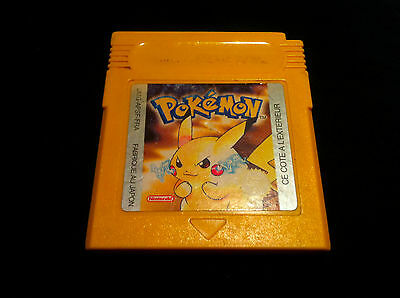 Pokémon Version Jaune - PILE OK - VF -  Jeu console Nintendo Game Boy