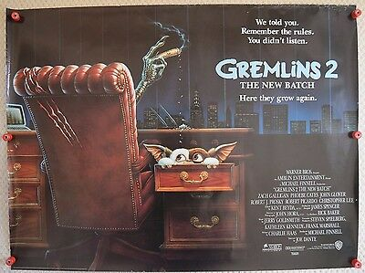 Gremlins 2, UK Quad TEASER, Zach Galligan, Phoebe Cates, '90