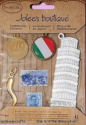 Ek Success Jolee's Boutique Parcel Stickers - Stamps Tower Of Pisa Italy Charms