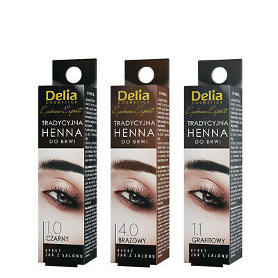 Delia Henna Eyebrow Eyelashes BLACK BROWN GRAPHITE 2G MULTIPLE OPTIONS CHEAP