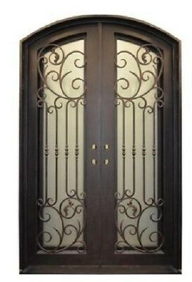 Wrought Iron Prehung Front Door: TR128A (61.5 x 96 in)