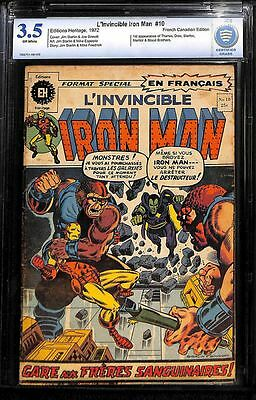 L'invincible Iron Man #10 (#55) 1972 French Canadian Cbcs 3.5 Not Cgc Scarce