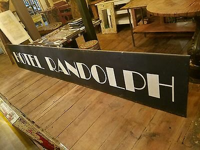 Randolph Hotel Canvas Painted Canopy Marquee Sign 15ft. Des Moines IA Court Ave.