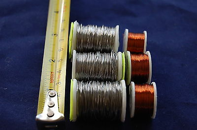 3 Spools of Lead Wire + 3 Spools of Copper Wire for Fly Tying