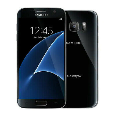 Samsung Galaxy S7 SM-G930F 32GB GSM Unlocked - Black Onyx Smartphone Android 4G