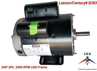 New 3 HP 3450 RPM Air Compressor 60 Hz Electric Motor 115-230 Volts Century B383