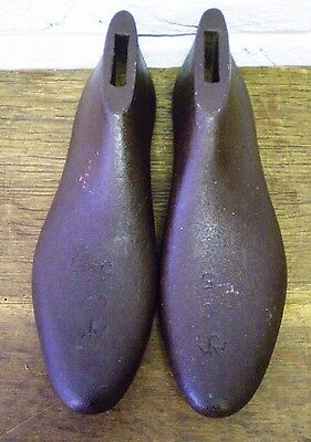 PAIR of Vintage Old Cast Iron Cobblers/Boot Makers Shoe Lasts *Tool/Repair/Props