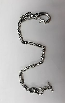 Travis Walker Double Cross Gargoyles Wing Hook Wallet Chain MSRP $4000