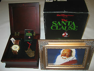 Disney Santa Clause 2 Fossil Watch 0405/1000 With Signed Picture Of Tim Allen