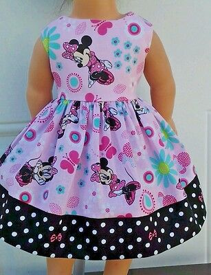 """Doll Clothes-Handmade-American Girl Dolls-Fits18""""-Minnie in The Garden."""