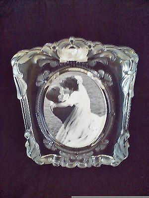 Mikasa Etched Princess Large Photo Picture Frame Glass Made In