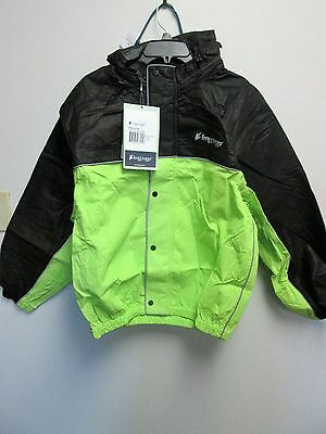 NWT Frogg Toggs Unisex-Adult High Visibility Road Toad Rain Jacket Green/Black M
